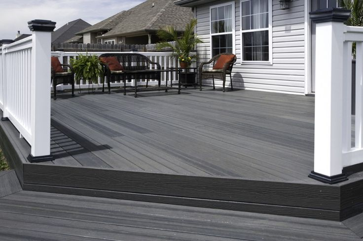 Composite decks are make from recycled materials and a glue or resin. Description from pinterest.com. I searched for this on bing.com/images