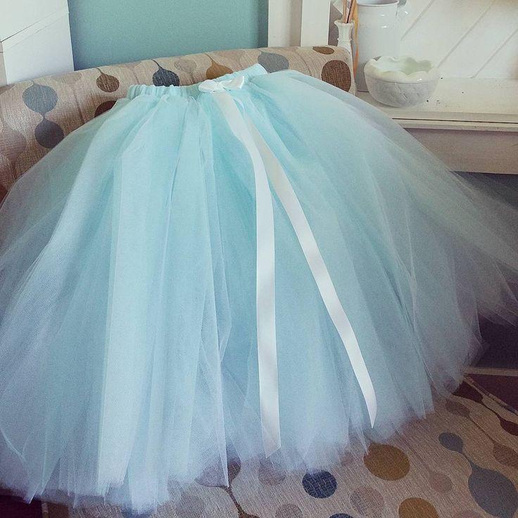 white over aqua tulle skirt. Layered tulle tutu by PrincessDoodleBeans on Etsy. Wedding inspiration, beach wedding, flower girl