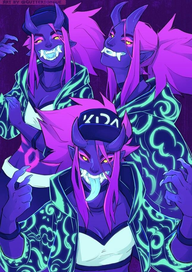 Wallpaper Akali Kda League Of Legends Fantasy Art
