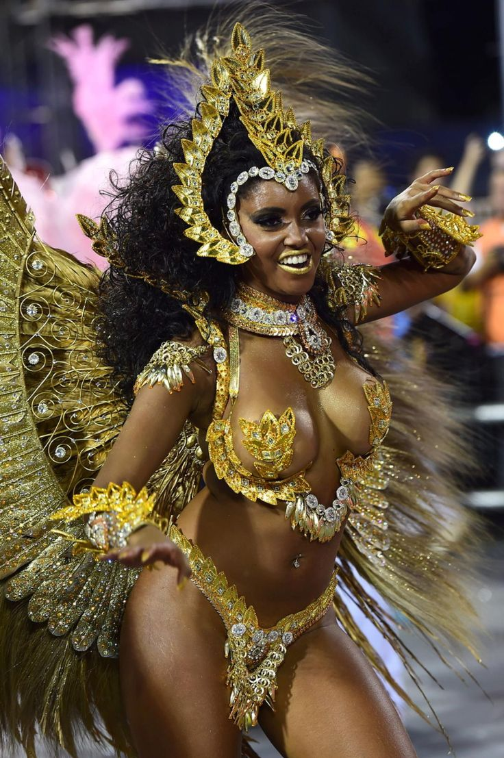Sao Paulo's carnival is typically held on the Friday and Saturday night of the week of Carnival, while the festival in Rio de Janeiro is held on Sunday and Monday night. A woman from the Tom Maior samba school performs during the first night of Carnival in Sao Paulo on Feb. 13, 2015.