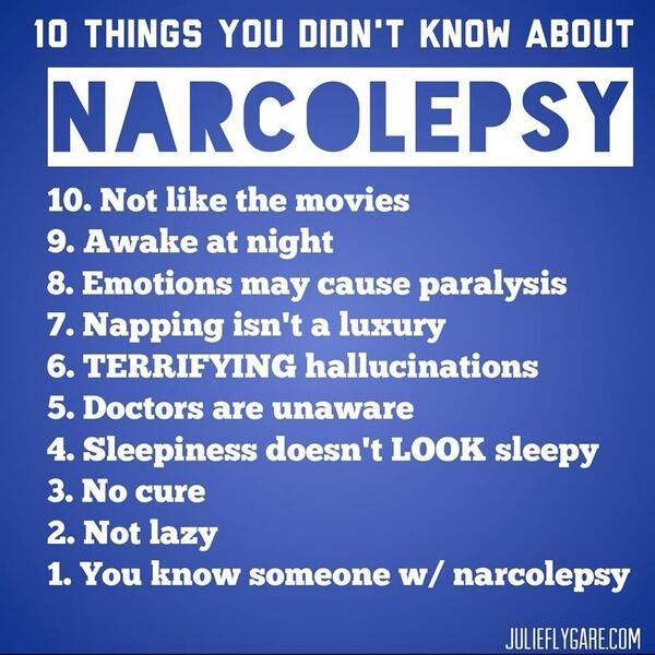 10 things you didn't know about narcolepsy!