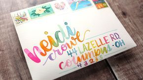 How to Address an Envelope using Watercolors