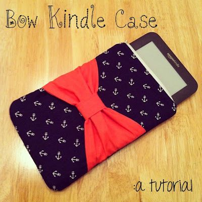 Tie it With a Bow - Free Kindle Case Tutorial - by Jennifer of Kill them With Craftiness #sewing
