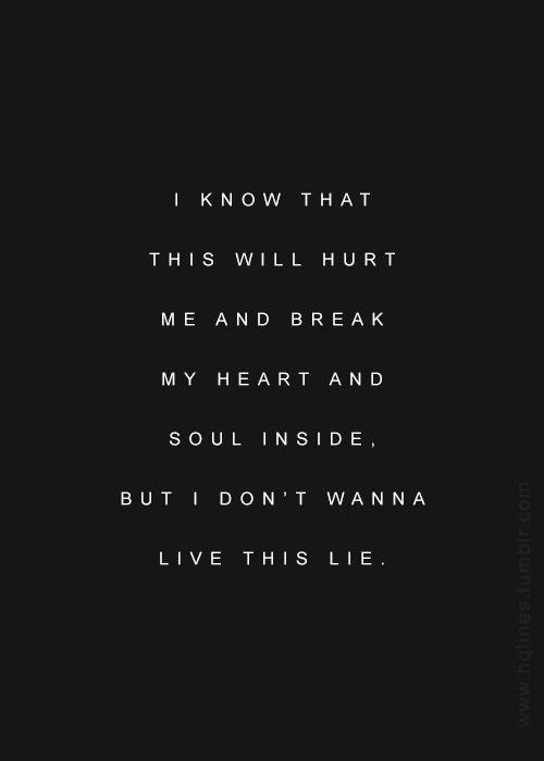 I Dont Wanna Live This Lie Quotes Good Charlotte Lyrics