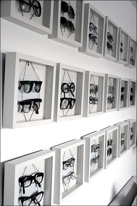 Eyewear in Shadowbox Frames