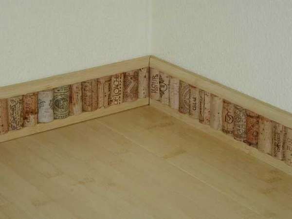 Diy projects with wine corks wine cellar kitchens and for Cork bar top