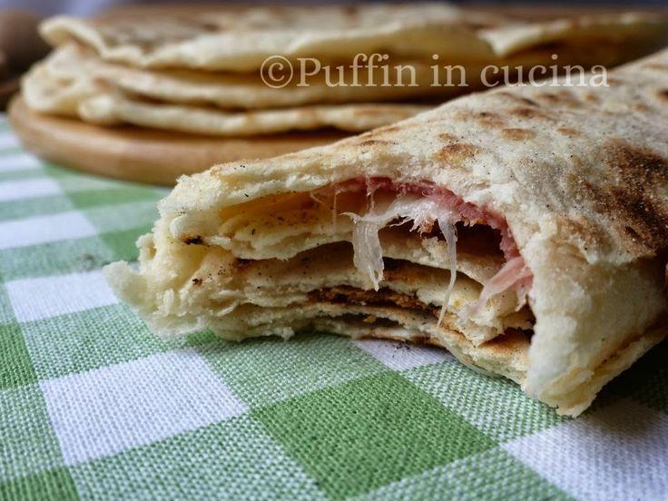 Puffin in cucina e non solo...: Piadine con esubero di pasta madre