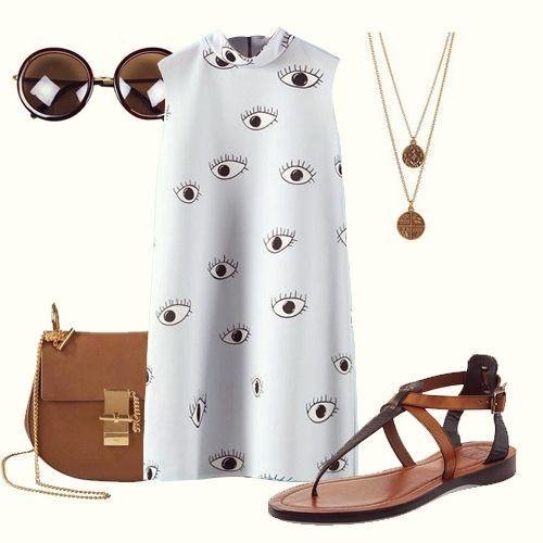 """eye dress   The """"eyes on me"""" dress is only $11.99 on June 12th, for 24 hours!  You'll save 52% and enjoy FREE SHIPPING>>"""