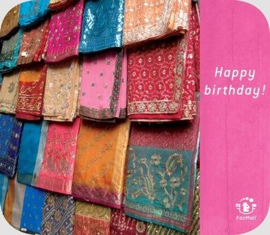 Happy Birthday | @FairMail - Fair Trade Cards - S341-E | India, Market