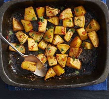 This versatile root vegetable can be roasted like a potato - with a drizzle of honey and sprinkling of spice you get a very special side dish