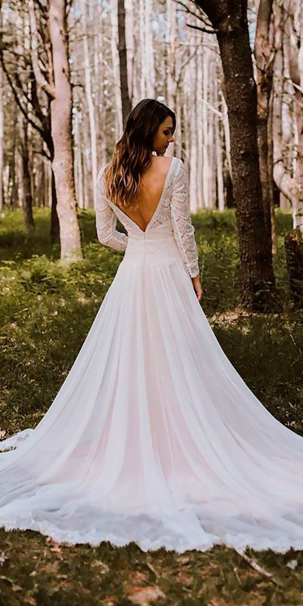 10 Best Wedding Dress Designers For 2017 ❤ wedding dress designers a line v back lace long sleeves maggie sottero ❤ See more: http://www.weddingforward.com/wedding-dress-designers/ #wedding #bride