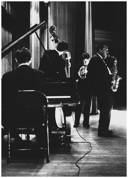 Chet Baker, Jimmy Rowles, Carson Smith and Charlie Parker. Los Angeles 1953 by William Claxton