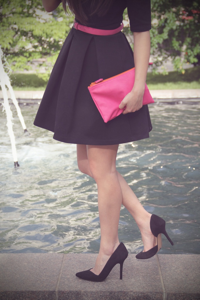 Hot Pink: Pink Accessories, Full Skirts, Fashion Shoes, Dresses Shoes, Outfit, Hot Pink, The Dresses, Pink Accent, Pink Black