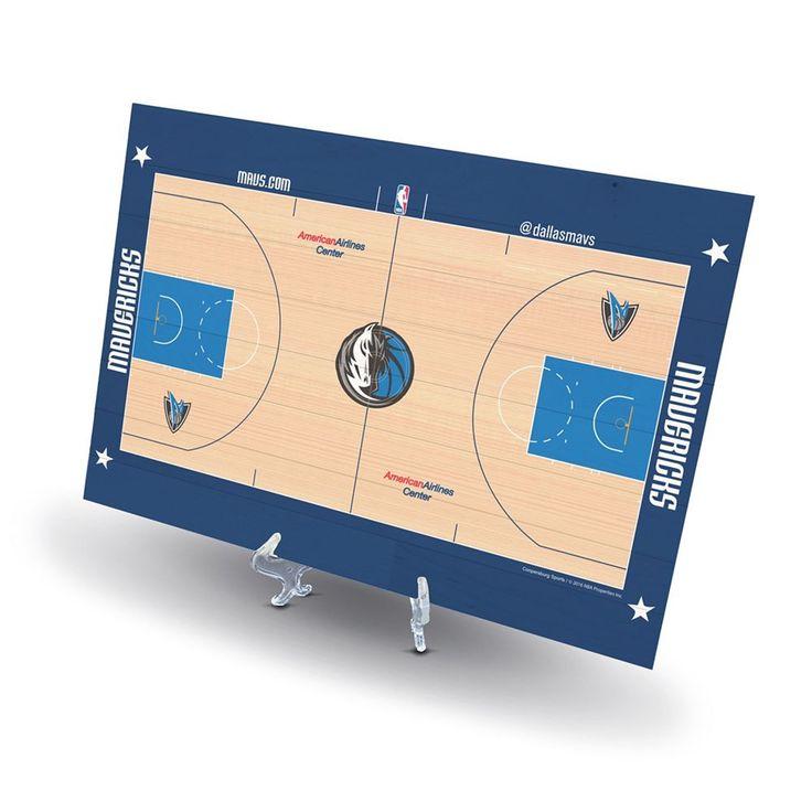 Dallas Mavericks Replica Basketball Court Display, Size: Novelty, Black
