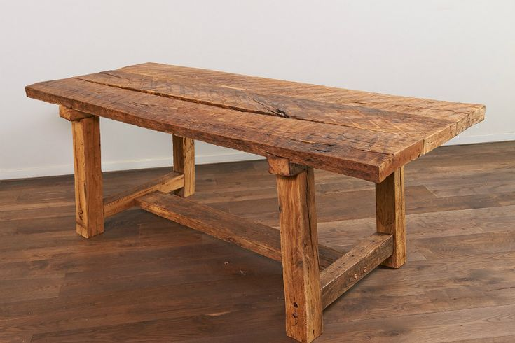 2  Rustic Recycled French Oak Table