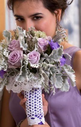 Crochet Patterns Galore - Bridal Bouquet Cozy