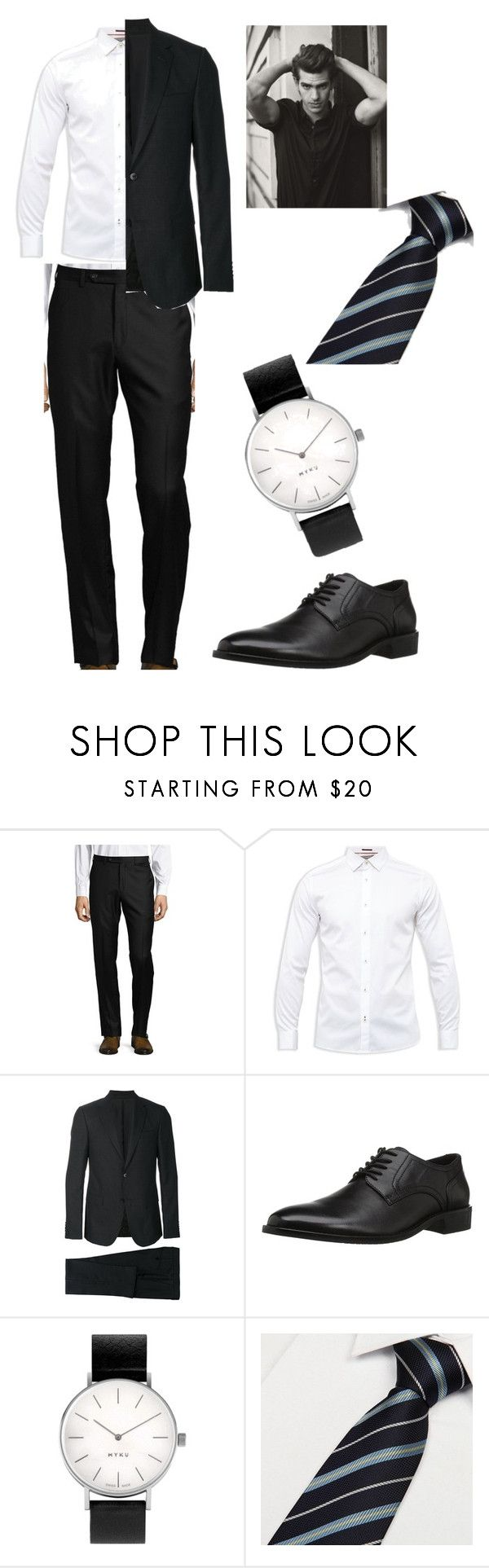 """""""•________•"""" by lore-4ever-directioner on Polyvore featuring Design Lab, Ted Baker, Z Zegna, Concord, Myku, men's fashion y menswear"""