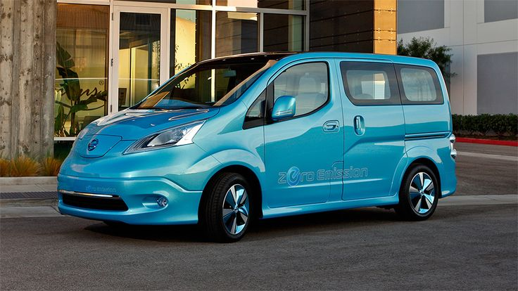 e-NV200 THE ZERO EMISSIONS SMALL VAN Modeled after the award winning and highly acclaimed NV200™ Compact Cargo, the e-NV200 Concept adds more bold design, and full electric capability. Its EV identity starts at the wide hood, where you'll find a charging port door behind the iconic Nissan badge. The e-NV200 also features sweeping headlights with LED accents, strong side character lines, and a dual glass panel roof that lets in a lot of light.