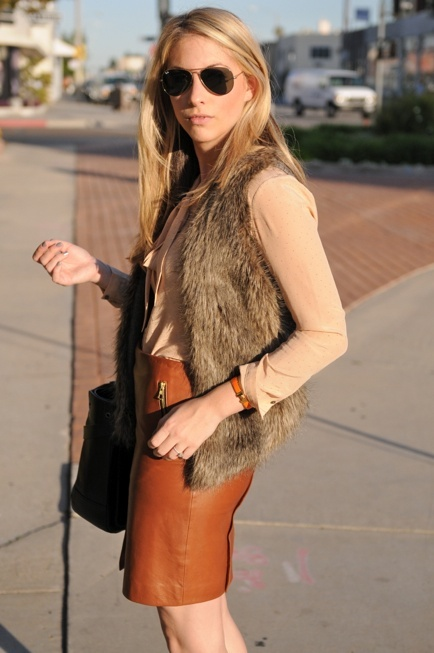 What To Wear With Tan Leather Skirt