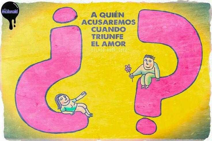 Frase de Silvio Rodriguez, ilustración de Allan Mcdonald