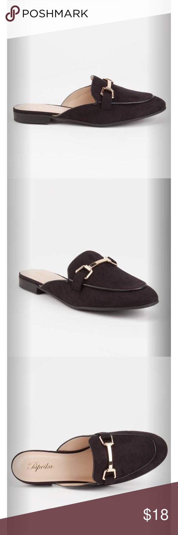 PAPRIKA Solid Womens Mule Loafers (Black) Super cute loafers! It's new with tags and box! True to size! Paprika Shoes Mules & Clogs