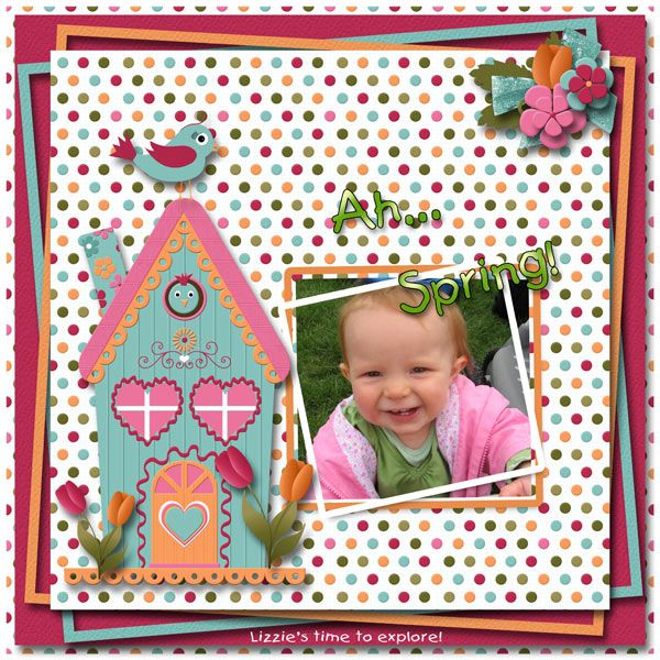 Lizzie in Spring by Tbear. Kit: Spring Time by CL Graphics http://scrapbird.com/designers-c-73/a-c-c-73_514/country-livs-graphics-c-73_514_351/clgraphics-spring-time-page-kit-p-17866.html