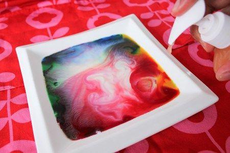 Kinderactiviteit: Kunst met melk en zeep - ministijl