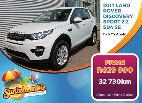 2017 LAND ROVER DISCOVERY SPORT 2.2 SD4 SE | On Special - From R629 990 with 32 730km - Only available from Bidvest McCarthy Land Rover/Jaguar Durban