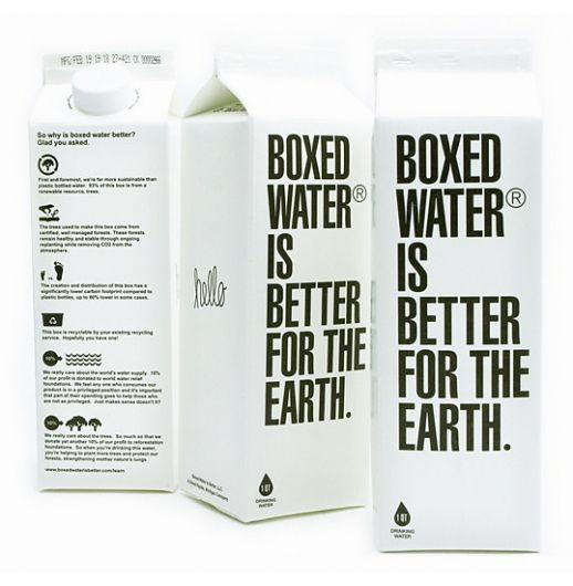 boxed water! actually tastes good.