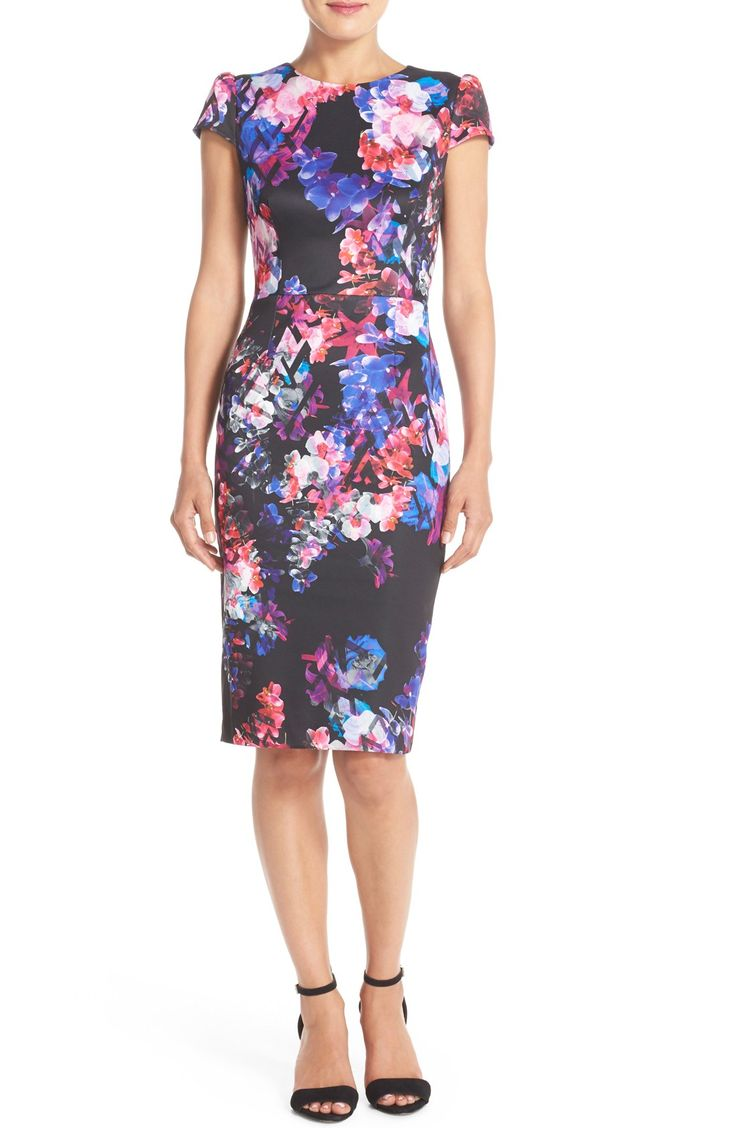 Book Cover Watercolor Dress : Adoring the floral watercolor print that covers this