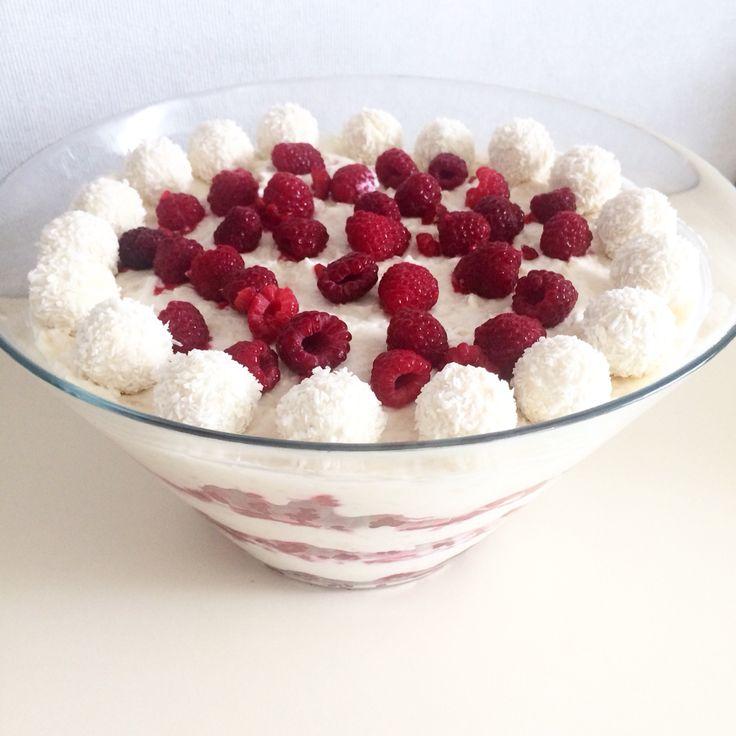 Himbeeren Raffaello Dessert Nachspeise