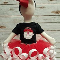 Santa outfit -Santa Outfit for Girls Toddler -Santa Outfit for Girl's -Santa Outfit Baby -Santa Tutu -Santa Tutu Outfit -Girl's Christmas by FPBoutique on Etsy