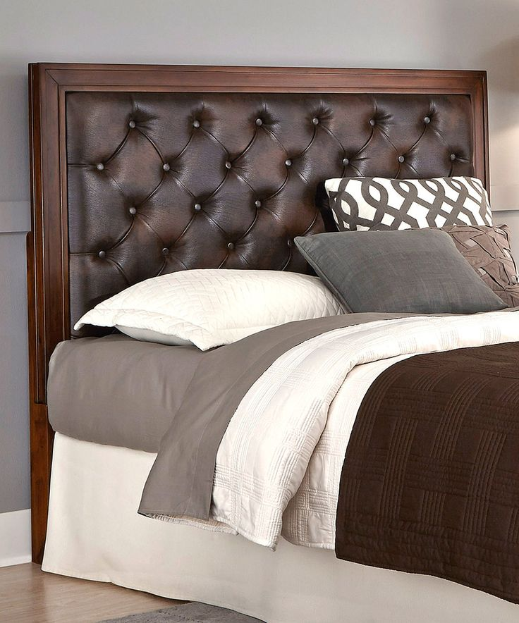 Superior Brown Leather Button Tufted Headboard By Home Styles #. Leather  HeadboardBedroom ... Pictures Gallery