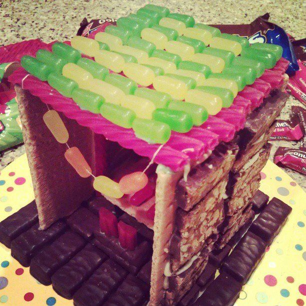 Sukkah out of Candy great project for my grandkids via Jacqueline