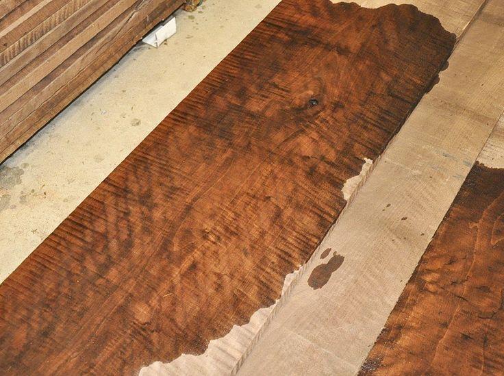 highly figured 4/4 american black walnut- curly walnut lumber in stock!  ~ Hearne Hardwoods Inc.