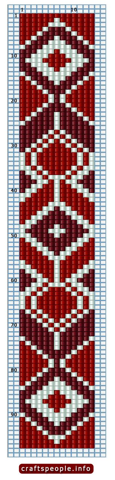Bead Bracelet Patterns Seed Loom Más                                                                                                                                                                                 Más