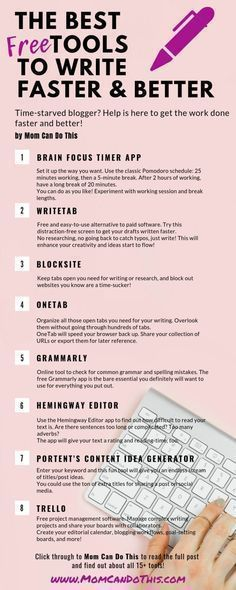 15+ free writing tools to get your writing done faster and better instantly – Productive Blogging for Moms