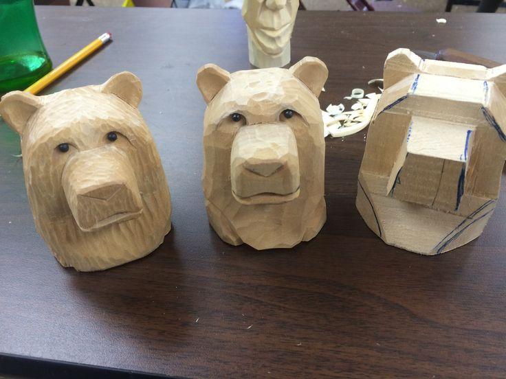 Bear head whittling bears pinterest wood carving