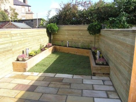 For A Rustic Solution, Pine Sleepers Are A Cost Effective And Efficient  Solution For Creating Raised Planted Borders.