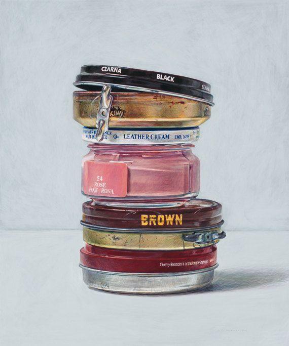 Shoe polish. Limited edition giclée print. by JoelPenkman on Etsy, £40.00