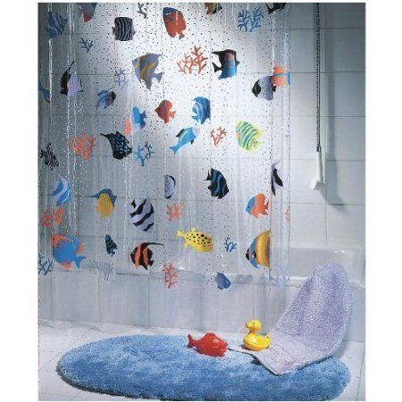 Quality Transparent Fish Peva Clear Plastic Shower Curtain