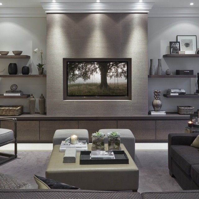 Build a faux chimney breast for the TV