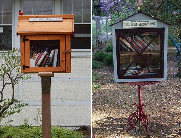 """""""Pequeñas Bibliotecas Gratuitas"""", """"Little Free Library"""". La idea consiste en tener una pequeña """"casita de madera"""" a la puerta de tu casa con libros para que cualquiera que pase pueda tomarlos prestados y una vez que los lea, los devuelva."""
