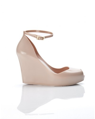 Repin this nude Melissa wedge, to stand a chance to win a pair of Melissa shoes.
