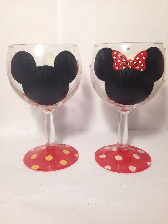 Painted Wine Glasses Husky