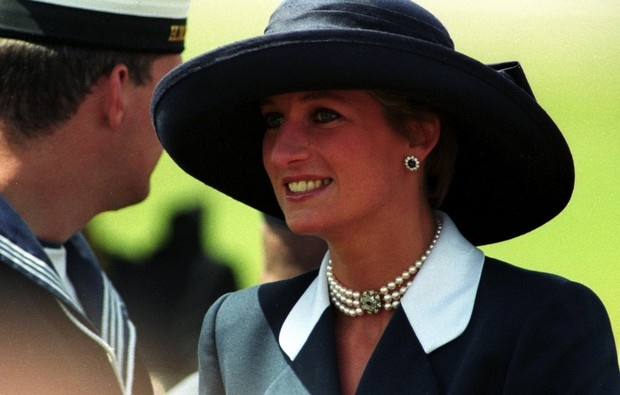 .June 5, 1994:  HRH Diana, Princess of Wales, attends the 50th Anniversary commemoration of D Day.
