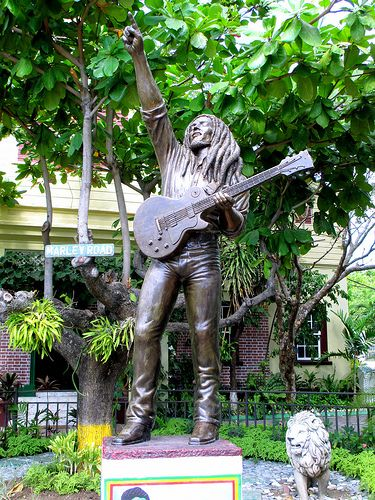 Bob Marley Statue at the Bob Marley Museum Kingston Jamaica