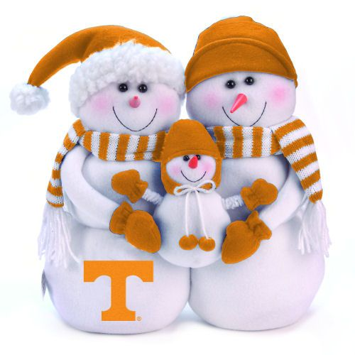 TN Vols Christmas #Tennessee #football #christmas #snowman