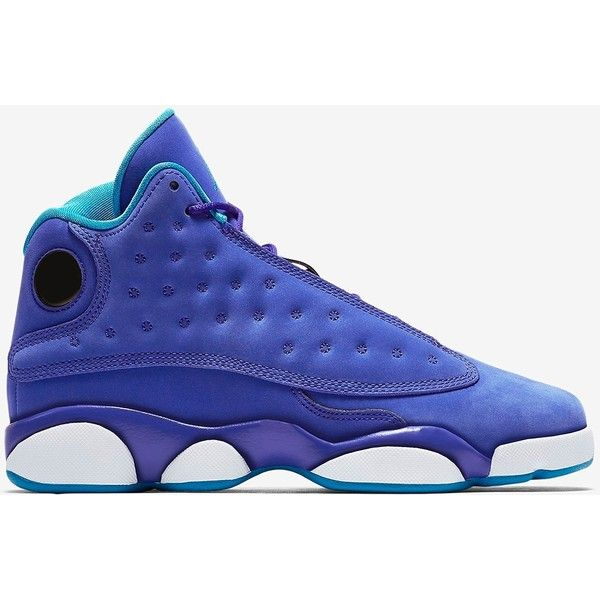 Air Jordan 13 Retro PE Girls Varsity Purple/Orion Blue-White ❤ liked on