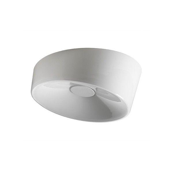 Lumiere XXS - Foscarini  Lámpara de pared o de techo con luz difusa. Difusor en vidrio soplado a mano y pulida por corte oblicuo. Marco y elemento central, que actúa como un vaso bloqueado, polvo de metal recubierto, balasto electrónico. Modelo XL también disponible en una versión regulable (1x55 W).   Referencias Lumiere XXS - Foscarini: 1910052 11 - Lumiere XXS de pared o techo en blanco